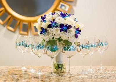 Crown Plaza Ocean Front Melbourne Florida Wedding Wine Glasses
