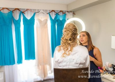 Crown Plaza Ocean Front Melbourne Florida Wedding Bride Make-up