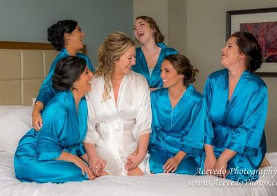 Crown Plaza Ocean Front Melbourne Florida Wedding Bride & Bridesmaids