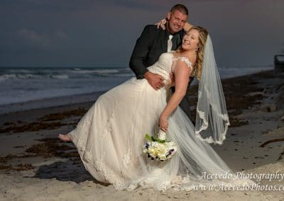 The Tides Satellite Beach Florida Bride & Groom Portrait