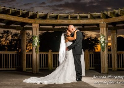 World Center Marriott Orlando Florida Wedding Bride & Groom Portrait