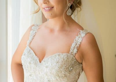 Melbourne Beach Hilton Florida Wedding Bride Portrait