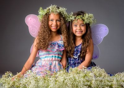 Two Girls Fairy Wing Studio Portrait Palm Bay Florida