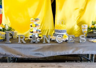 Wickham Park Melbourne Florida 60th Birthday Party Cake
