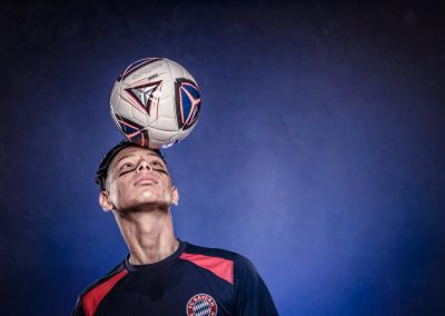Sport Photography Soccer Studio Portrait