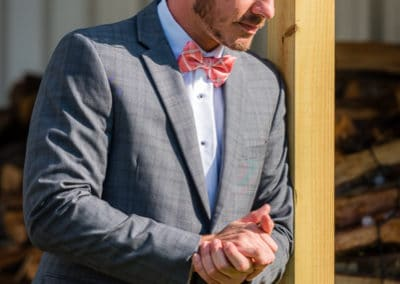 Bright Side Barns Cocoa Florida Wedding Groom Portrait