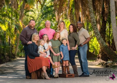 Melbourne Florida F.I.T. Botanical Garden Family Portrait