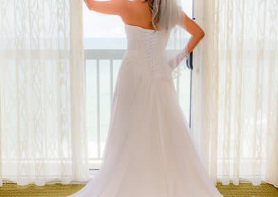 Hilton Melbourne Beach Oceanfront Wedding Bride Portrait
