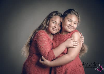 Studio Photography Portrait Sisters