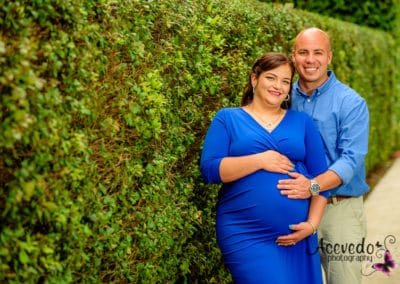 Pan's Garden Palm Beach Florida Maternity Portrait